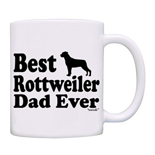 owndis Best Rottweiler Dad Ever Gift Coffee Mug-0062-White