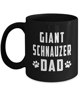 Best Dog Lover Gifts, Perfect Gifts for Giant Schnauzer Dad, 11oz Black Coffee Mugs by 3MUGS