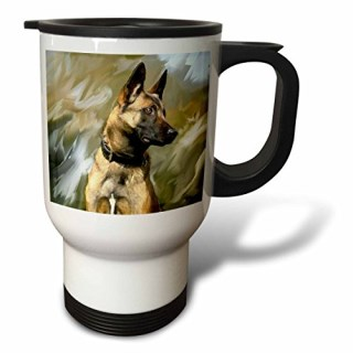 3dRose Belgian Malinois Stainless Steel Travel Mug, 14-Ounce