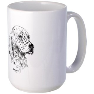 CafePress English Setter Puppy Large Mug Large Mug - Standard