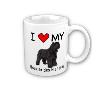 I Love My Bouvier des Flandres Coffee Mug by MyHeritageWear