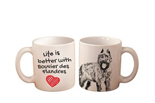 Bouvier des Flandres, mug with a dog, high quality, cup, ceramic, new collection