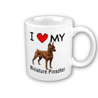 I Love My Miniature Pinscher Coffee Mug by MyHeritageWear