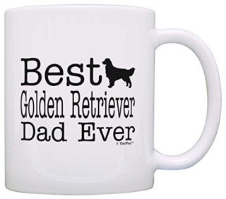 Dog Lover Mug Best Golden Retriever Dad Ever Dog Puppy Supplies Gift Coffee Mug Tea Cup White