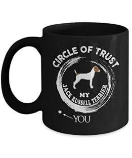 Jack Russell Terrier Mug, Jack Russell Terrier Coffee Mug Cute Gifts For Dad Mom Love Dog Tea Beer Travel As Seen on T Shirt, 11 Ceramic Black Coffee