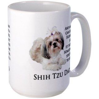 CafePress Shih Tzu Dad Large Mug Large Mug - Standard Multi-color