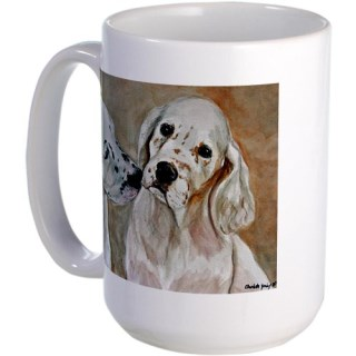 CafePress Two English Setter Pups Large Mug - Standard