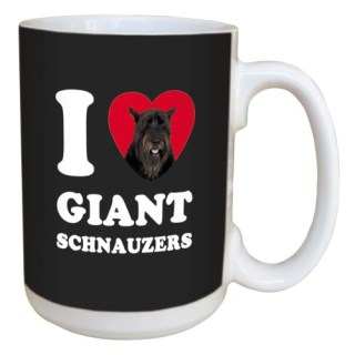 Tree Free Greetings LM45059 I Heart Giant Schnauzers Ceramic Mug with Full-Sized Handle, 15-Ounce