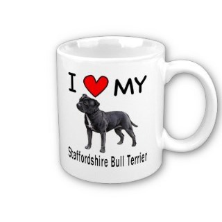 I Love My Staffordshire Bull Terrier Coffee Mug