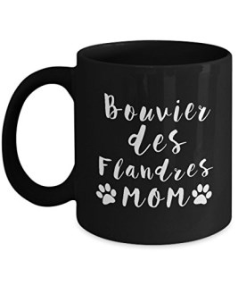 Best Dog Lover Gifts, Perfect Gifts for Bouvier des Flandres Mom, 11oz Black Coffee Mugs by 3MUGS