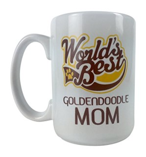World's Best Goldendoodle Dad or Best Mom Dog 15 oz Deluxe Large Double-Sided Mug (Mom)