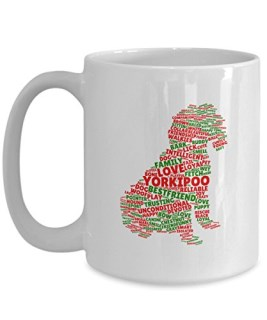 Yorkipoo Dog Mugs-16oz Cute Breed Dog Christmas Themes Coffee Mugs Gift for Dog Lovers