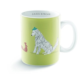 Fringe Studio 399032 Golden Retriever Mug, 16 oz, Assorted
