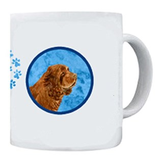 Caroline's Treasures SS4786-BU-CM15 Sussex Spaniel Microwavable Ceramic Coffee Mug, 15 oz, Multicolor