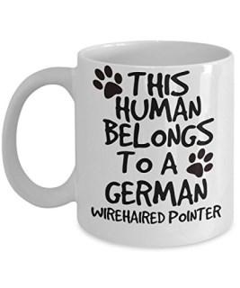 German Wirehaired Pointer Mug - White 11oz Ceramic Tea Coffee Cup - Perfect For Travel And Gifts