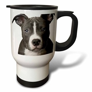 3dRose American Pit Bull Terrier Puppy Travel Mug, 14-Ounce