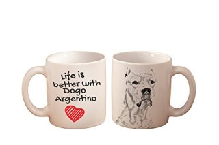 Dogo Argentino, mug with a dog, high quality, cup, ceramic, new collection