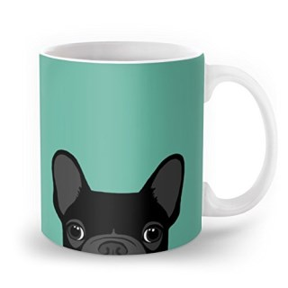 Society6 Boston Terrier And French Bulldog Mug 11 oz