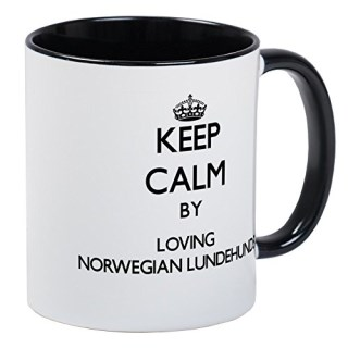 CafePress - Keep Calm By Loving Norwegian Lundehunds Mugs - Unique Coffee Mug, Coffee Cup