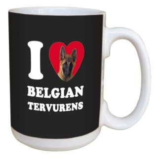 Tree Free Greetings LM45009 I Heart Belgian Tervurens Ceramic Mug with Full-Sized Handle, 15-Ounce