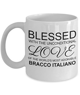 Bracco Italiano Mug - Dog Lover Gifts And Accessories - Blessed with the Unconditional Love of the World's Most Adorable Animal - 11 oz White Coffee C