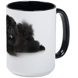 CafePress - Black Chow-Chow In Studio On White Back - Coffee Mug, Large 15 oz. White Coffee Cup