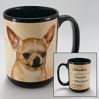 Dog Breeds (A-K) Chihuahua 15-oz Coffee Mug Bundle with Non-Negotiable K-Nine Cash by Imprints Plus (053)