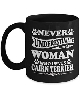 Cairn Terrier Mug, Cairn Terrier Coffee Mug Cute Gifts For Dad Mom Love Dog Tea Beer Travel As Seen on T Shirt, 11 Ceramic Black Coffee Cup