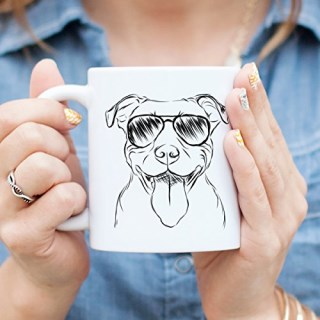 Pitbull Terrier Coffee Mug 11oz Dog Lover Gift for Him Her Mom American Staffordshire Bully