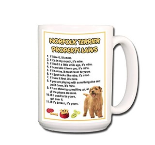Norfolk Terrier Property Laws Coffee Tea Mug 15 oz