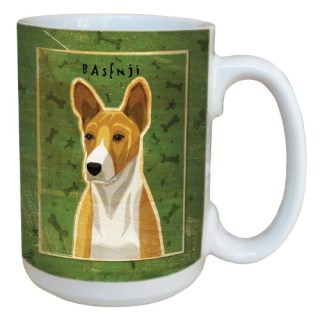 Tree-Free Greetings sg44073 Red Basenji by John W. Golden Ceramic Mug with Full-Sized Handle, 15-Ounce