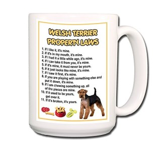 Welsh Terrier Property Laws Coffee Tea Mug 15 oz Funny