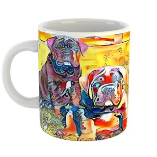 Westlake Art - Neapolitan Mastiff Dog Coffee Mug 11 oz - Modern Abstract Artwork for Home Office Decoration Unique Gift Idea