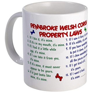 CafePress - Pembroke Welsh Corgi Property Laws 2 Mug - Unique Coffee Mug, Coffee Cup