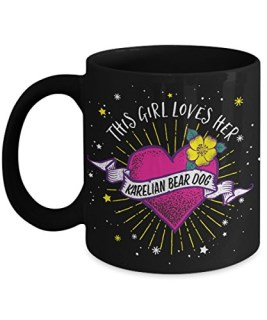 This Girl Loves her Karelian Bear Dog Mug - Dog Lover Gifts and Accessories Coffee Cup