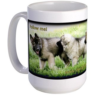 CafePress - Shiloh Shepherd Puppies: Follow Me - Coffee Mug, Large 15 oz. White Coffee Cup