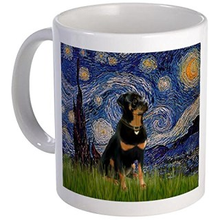 CafePress - Starry Night Rottweiler Mug - Unique Coffee Mug, Coffee Cup