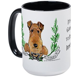 CafePress - Irish Terrier Gifts Large Mug - Coffee Mug, Large 15 oz. White Coffee Cup