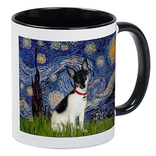 CafePress - Starry Night & Rat Terrier - Unique Coffee Mug, Coffee Cup