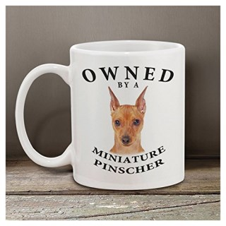 "Miniature Pinscher ""Red"" Owned By 11 oz. Coffee Mug"