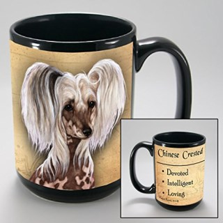 Dog Breeds (A-K) Chinese Crested 15-oz Coffee Mug Bundle with Non-Negotiable K-Nine Cash by Imprints Plus (058)