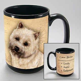 Dog Breeds (A-K) Cairn Terrier 15-oz Coffee Mug Bundle with Non-Negotiable K-Nine Cash by Imprints Plus (045)