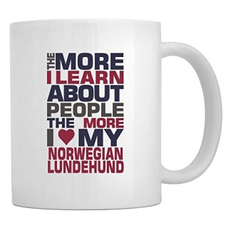 Teeburon THE MORE I LEARN ABOUT PEOPLE THE MORE I LOVE MY Norwegian Lundehund Mug