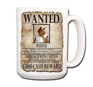 Basenji Wanted Poster Coffee Tea Mug 15 oz No 1 Funny