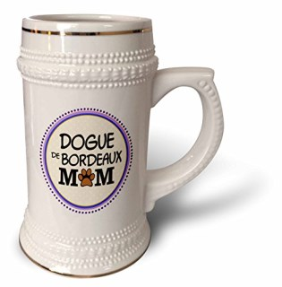 InspirationzStore Pet designs - Dogue de Bordeaux Dog Mom - Doggie mama by breed - paw print mum love - doggy lover proud pet owner - 22oz Stein Mug (stn_151735_1)