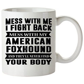 AMERICAN FOXHOUND Mug 11 Oz - Good for Gifts - Unique Coffee Cup, Items, Plush, Print, Signs