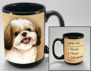 Gold and White Shih Tzu Dog Breed Traits Ceramic Stoneware 15 Ounce Mug
