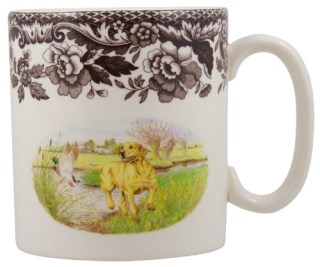 Spode Woodland Hunting Dogs Yellow Labrador Retriever Mug