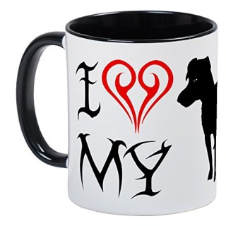 CafePress - Patterdale Terrier Mug - Unique Coffee Mug, Coffee Cup