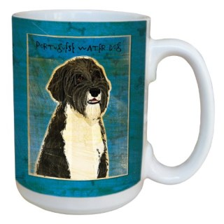 Tree-Free Greetings sg44010 Portuguese Water Dog by John W. Golden Ceramic Mug with Full-Sized Handle, 15-Ounce
